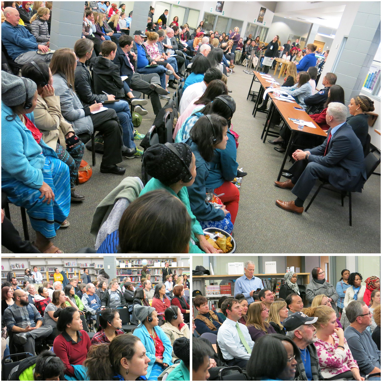 Photo: Aurora Together Community Meeting 2 | Crowd Triptych - MVerlee