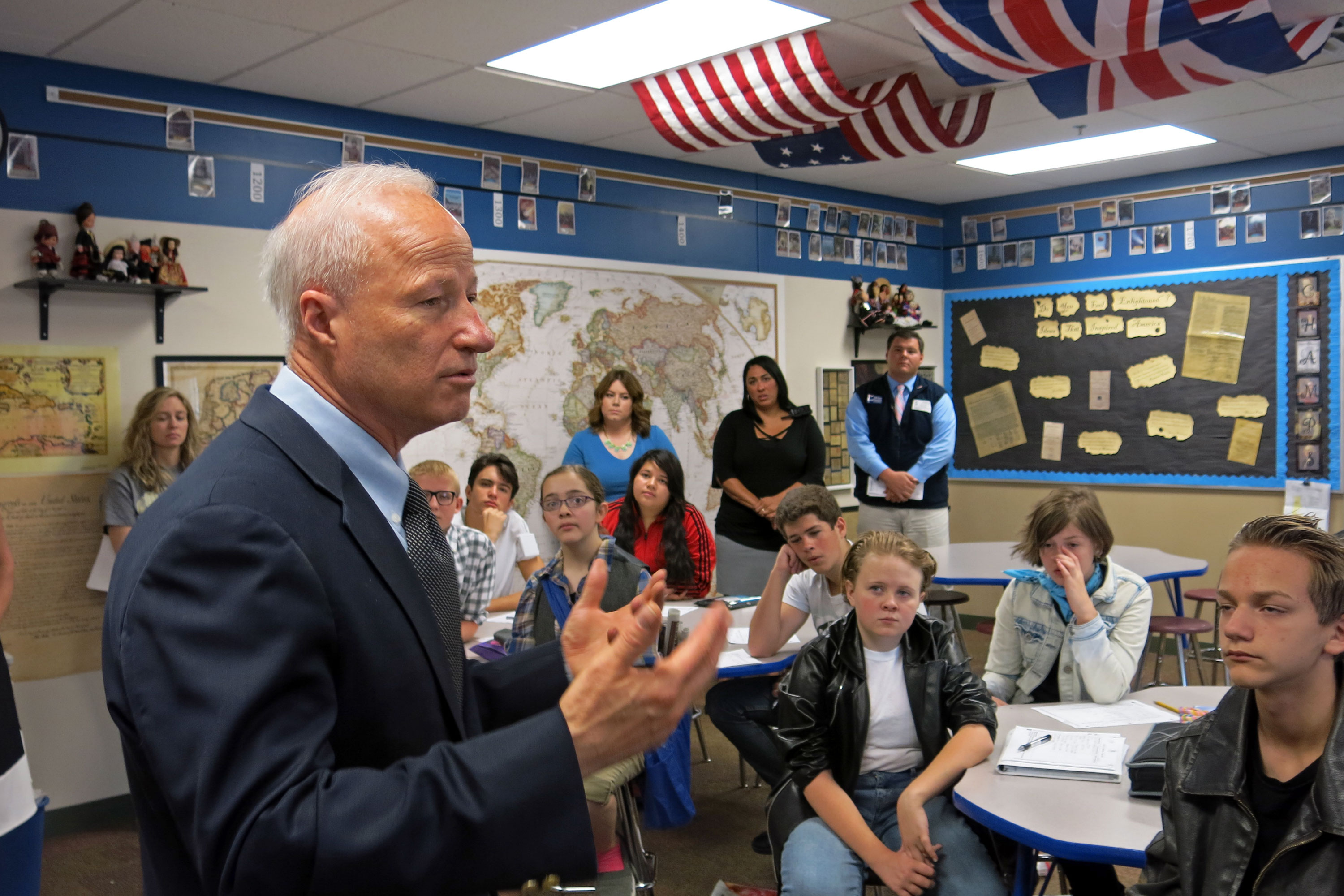Photo: Rep Mike Coffman, Brighton School Visit