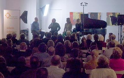 Photo: 'A Musician's Life' panelists at CPR on Santa Fe