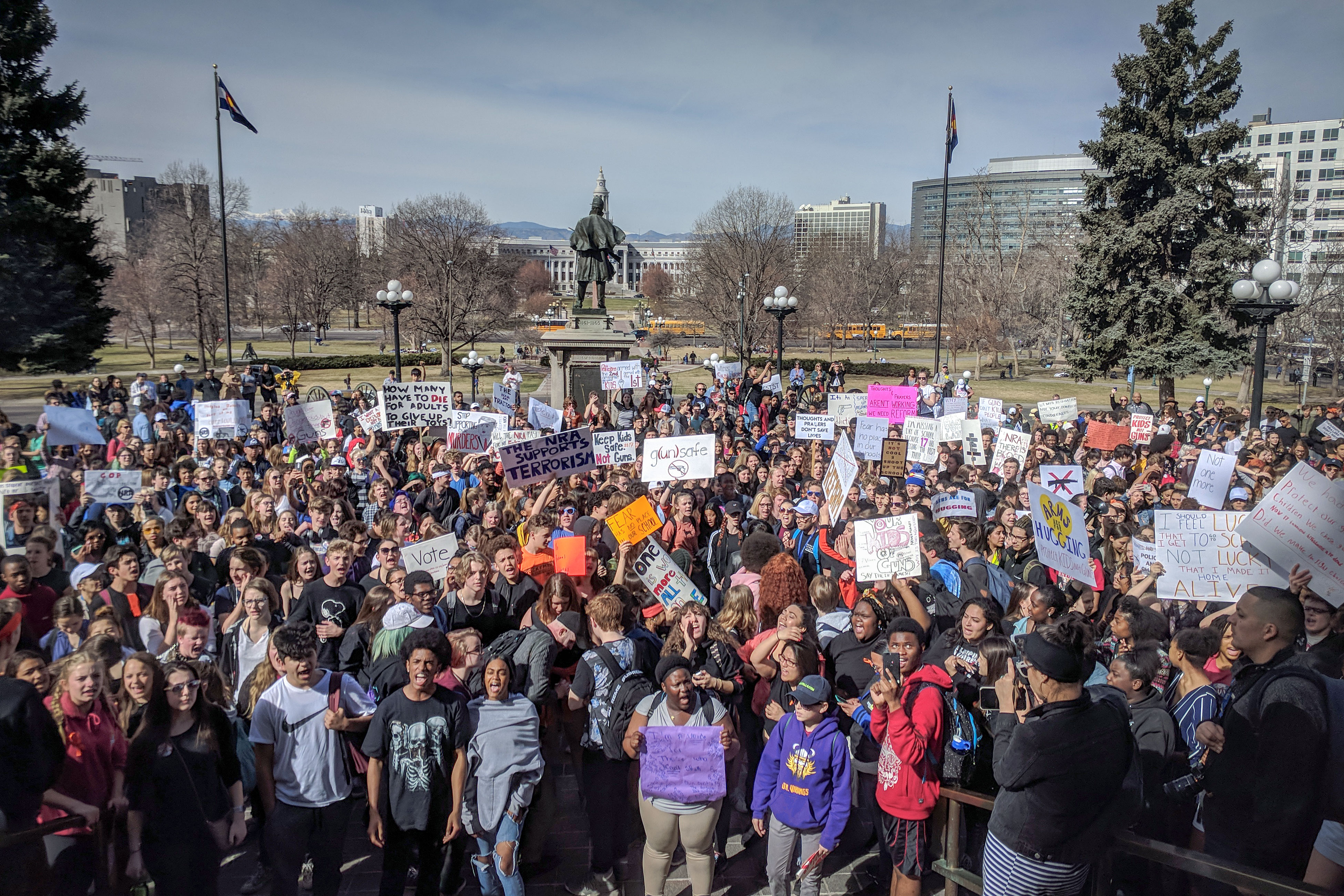 Photo: National Walkout Day | Capitol Protest - SBrasch