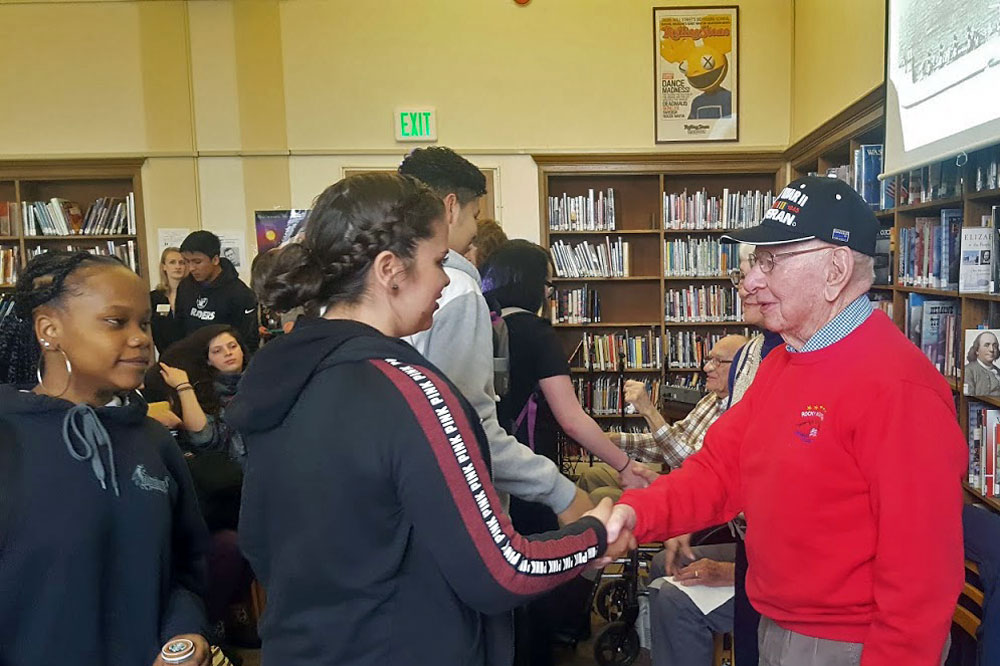 Photo: WWII vets visit South HS 2 - SBrasch