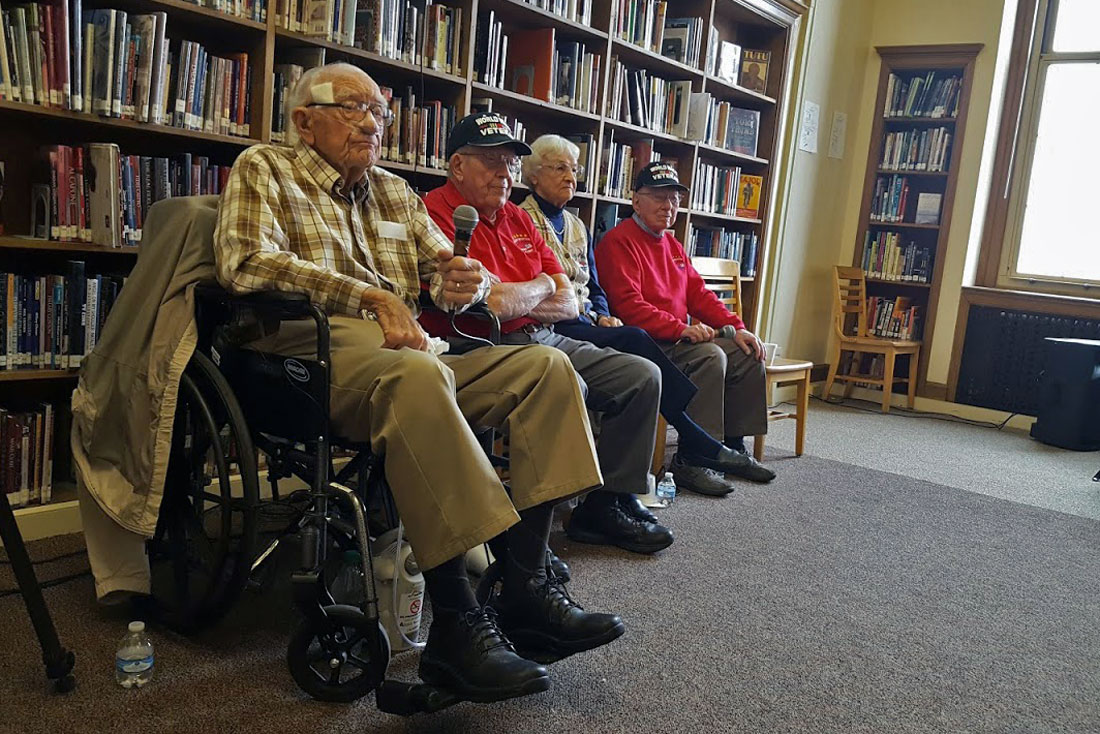 Photo: WWII vets visit South HS - SBrasch
