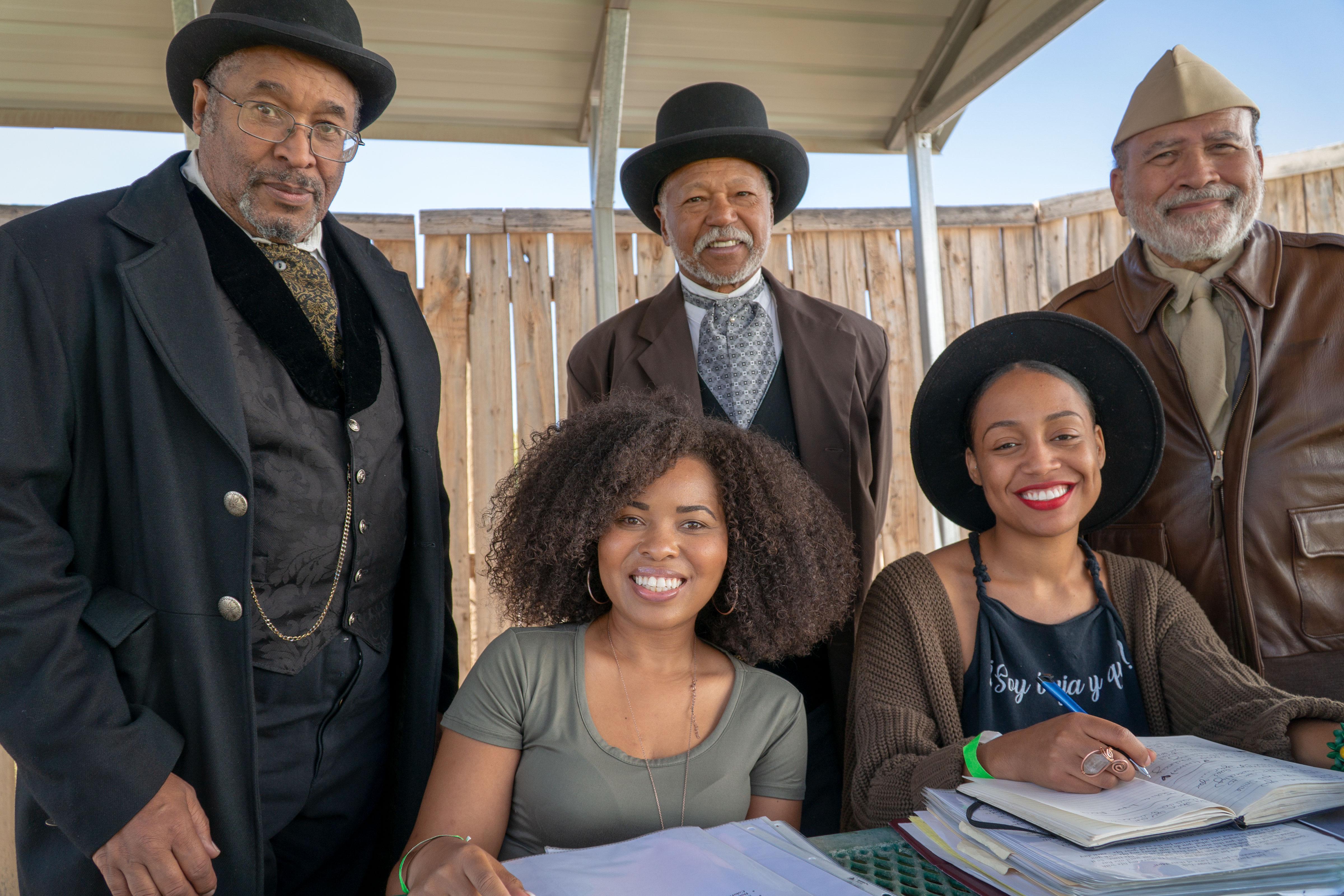 Photo: Black American West Reenactors 2 | Actors w/ Brihtney O'Brien and Shayla Monteiro - SWolf