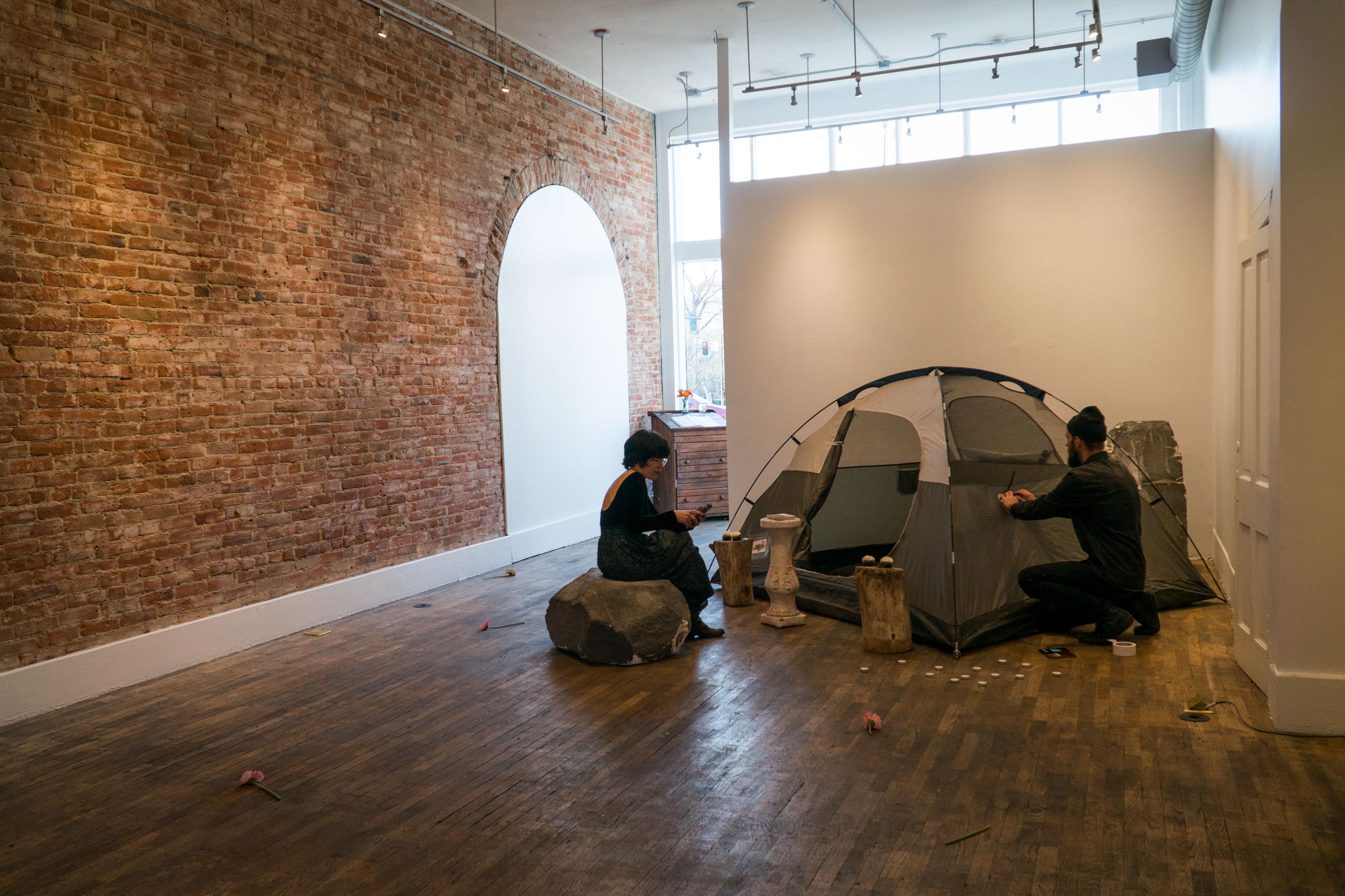 Photo: Blind Date Art 2 | Karpik And Hernandez Setup Tent - SWolf