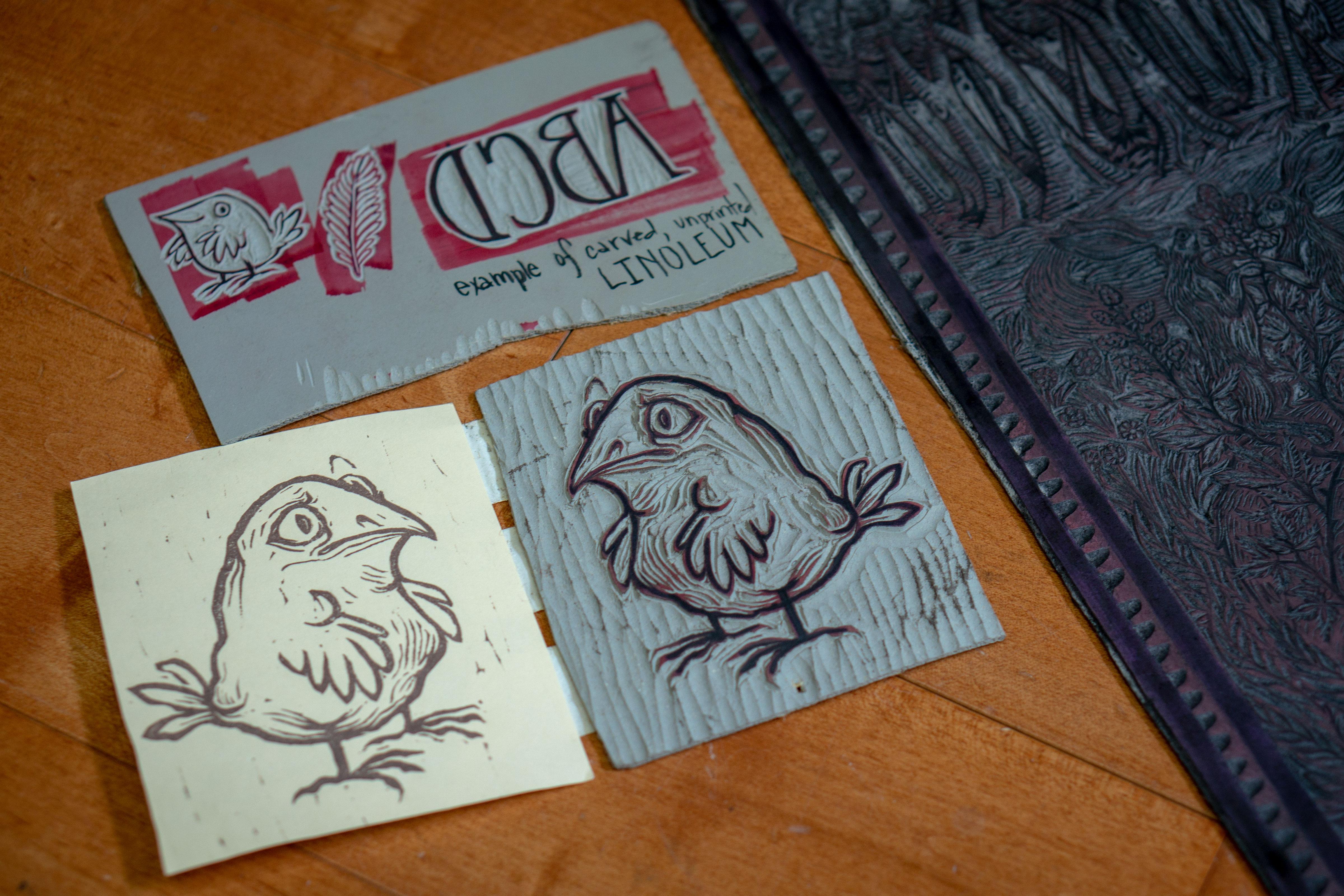 Photo: Brady Tarot Obsessed 4 | Linocut Close Up - SWolf