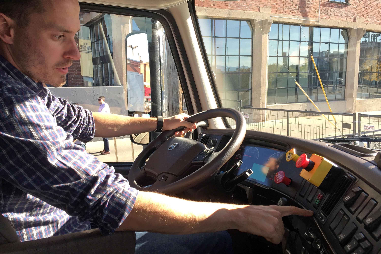Photo: Otto Engineer Matt Grigsby, Truck Cab