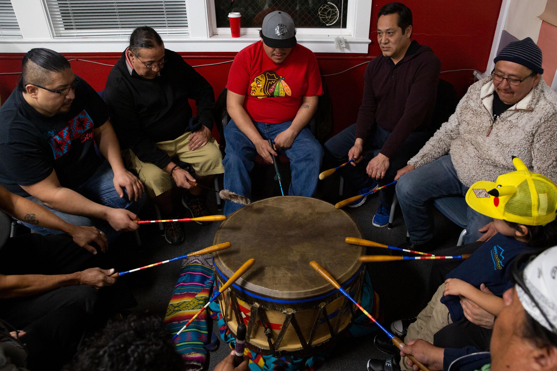 Photo: Denver March Pow Wow Prep 8 | Drum Circle Practice