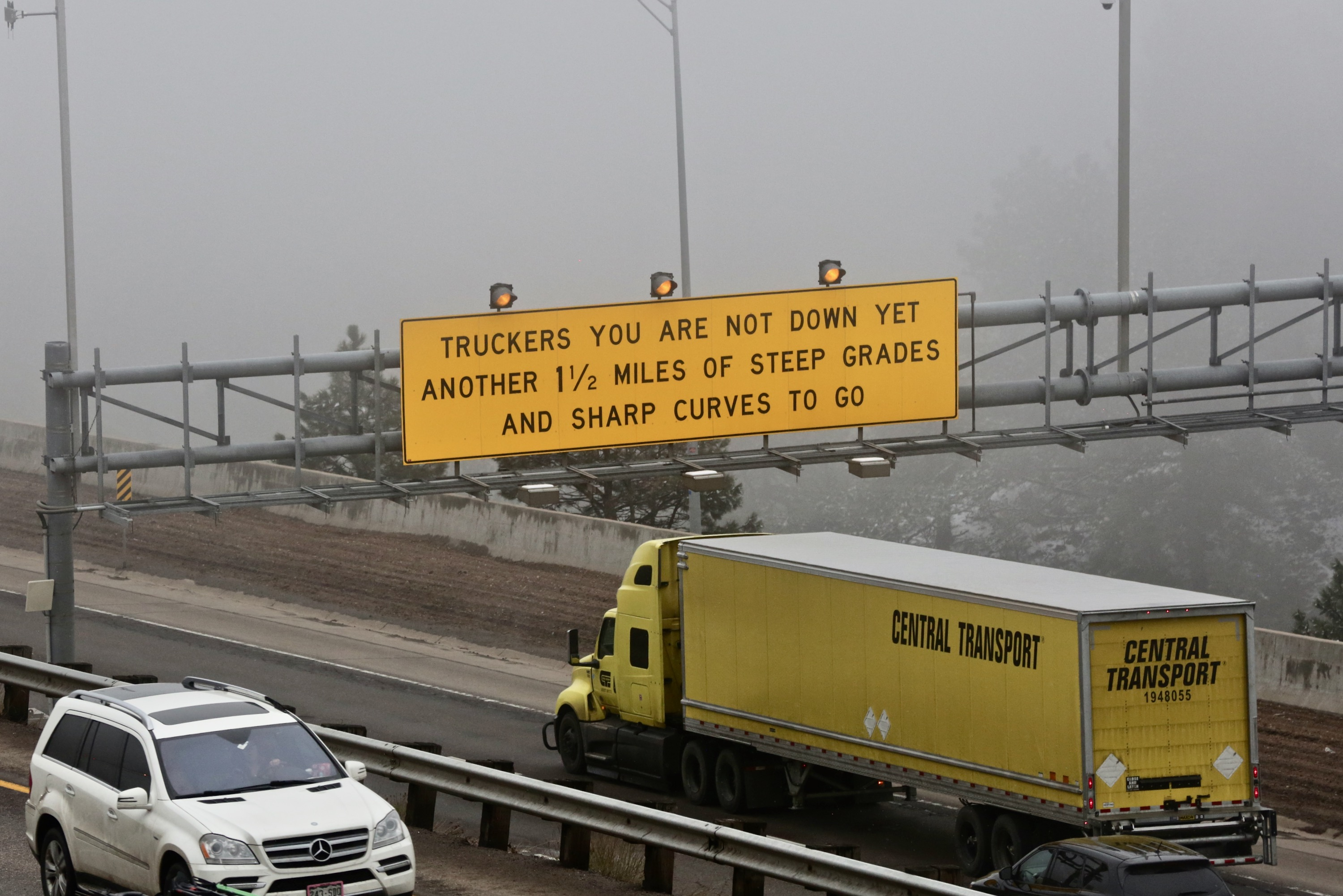 Photo: Truckers Don't Be Fooled Sign I-70