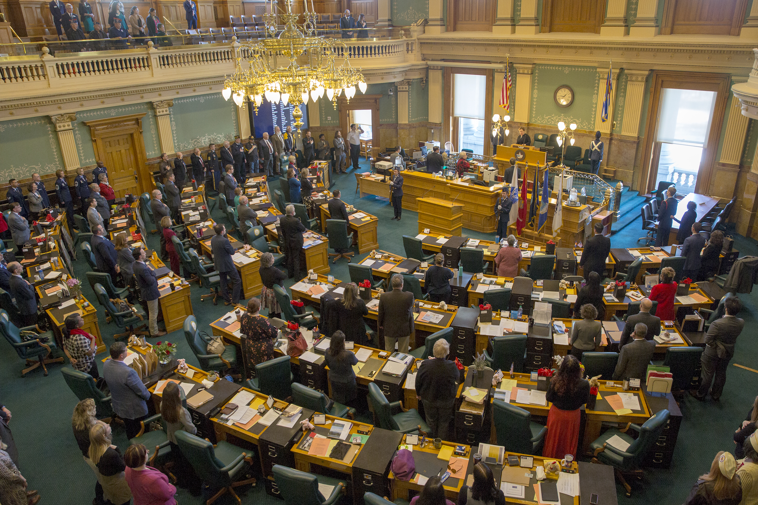 Photo: Colorado Legislature Military Appreciation Day 2019 | Capitol Crowd