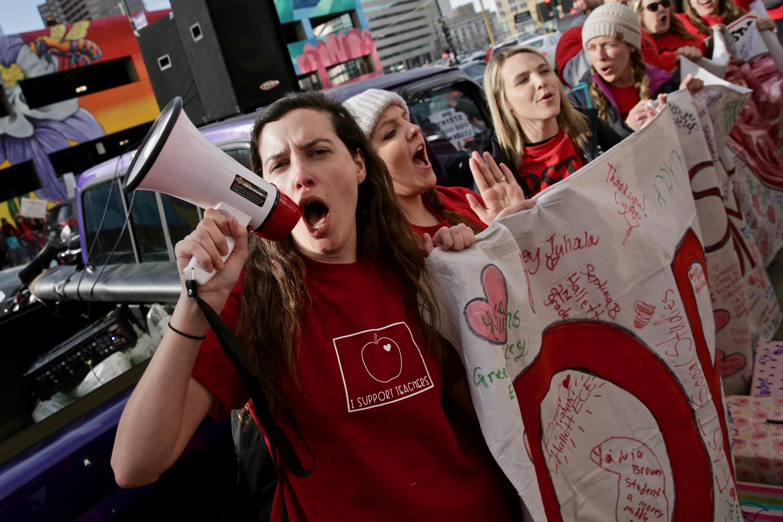 Photo: Denver Teacher Strike Wednesday 12 | Rally
