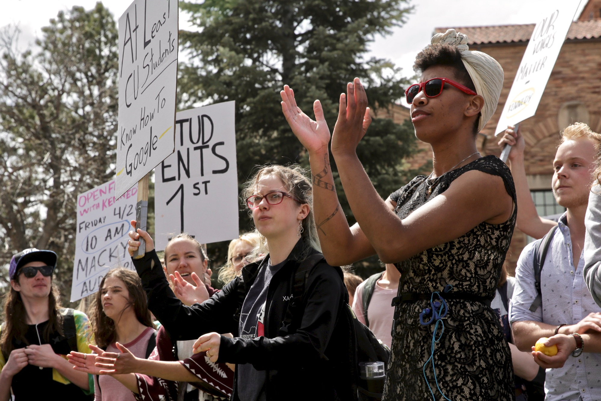 Photo: CU Boulder Campus Protest Against Mark Kennedy 2 HV 20190415