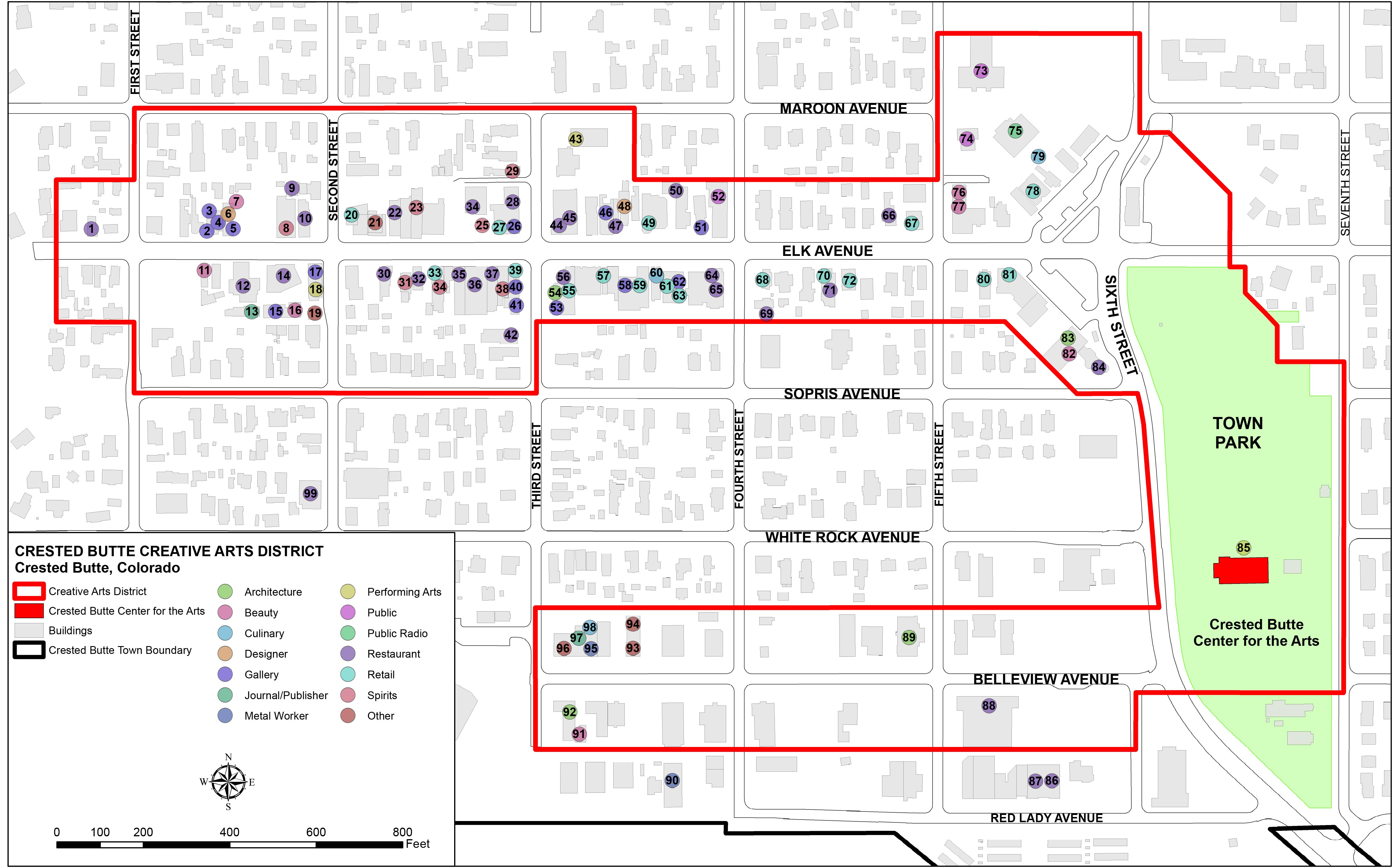 Photo: Map Of Crested Butte Certified Creative District