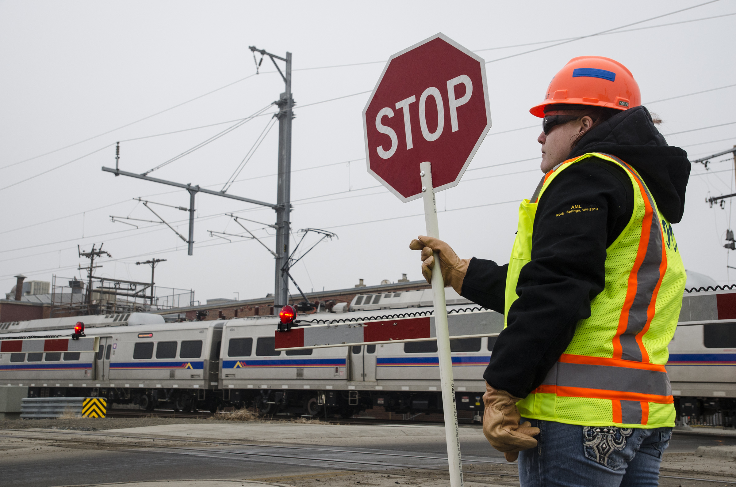 Photo: RTD A Line flagger