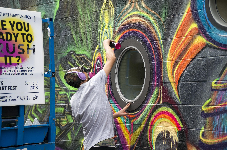 Photo: Crush Walls Urban Art RiNo Denver Muralists 2