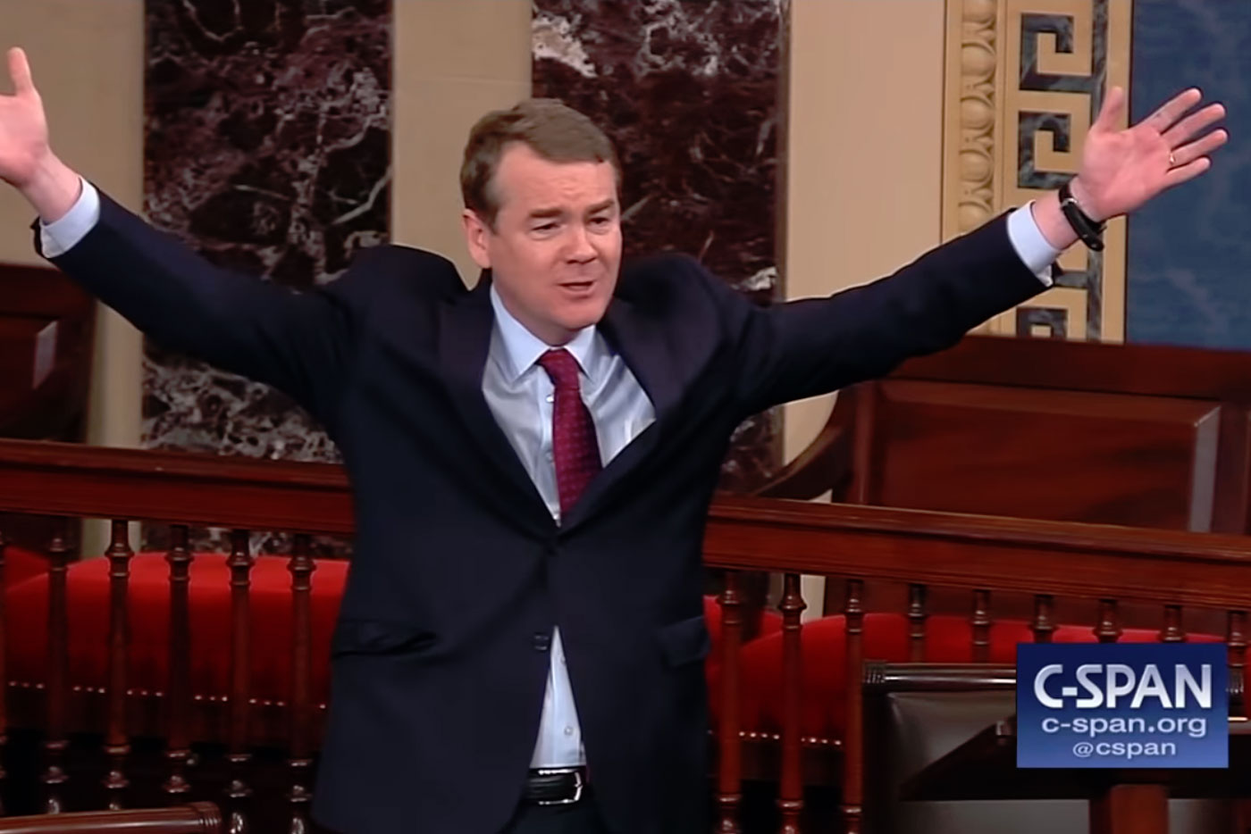 Photo: Michael Bennet Rips Ted Cruz | Screencpa - C-SPAN