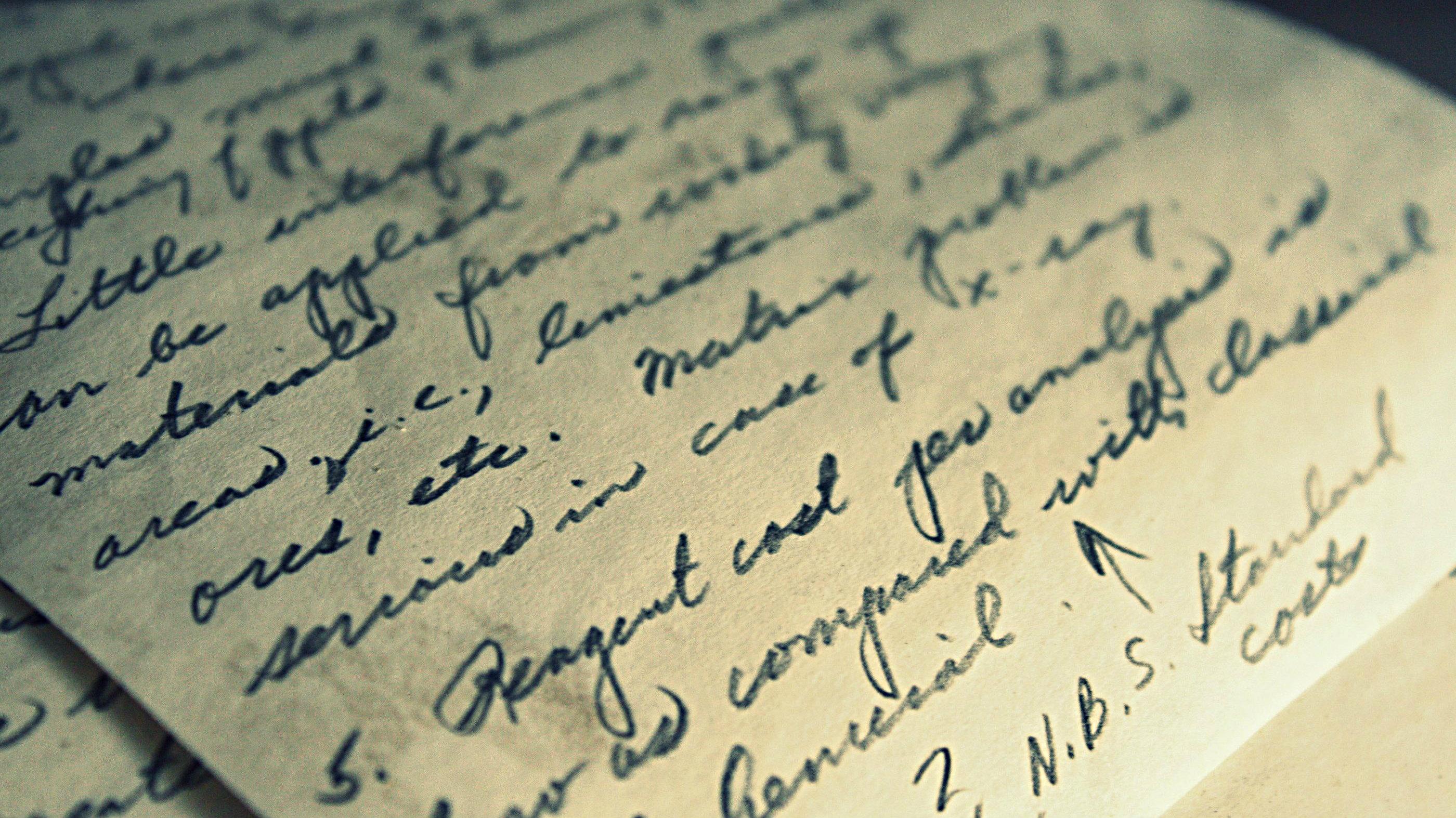 Photo: handwriting 1