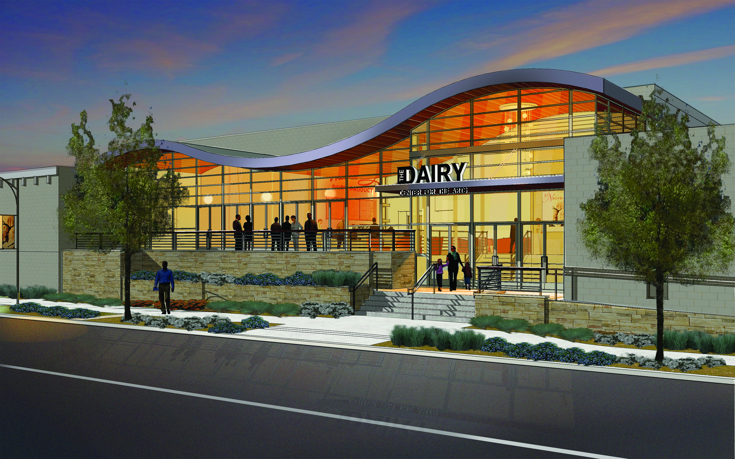 Photo: Boulder's Dairy Center for the Arts renovation rendering