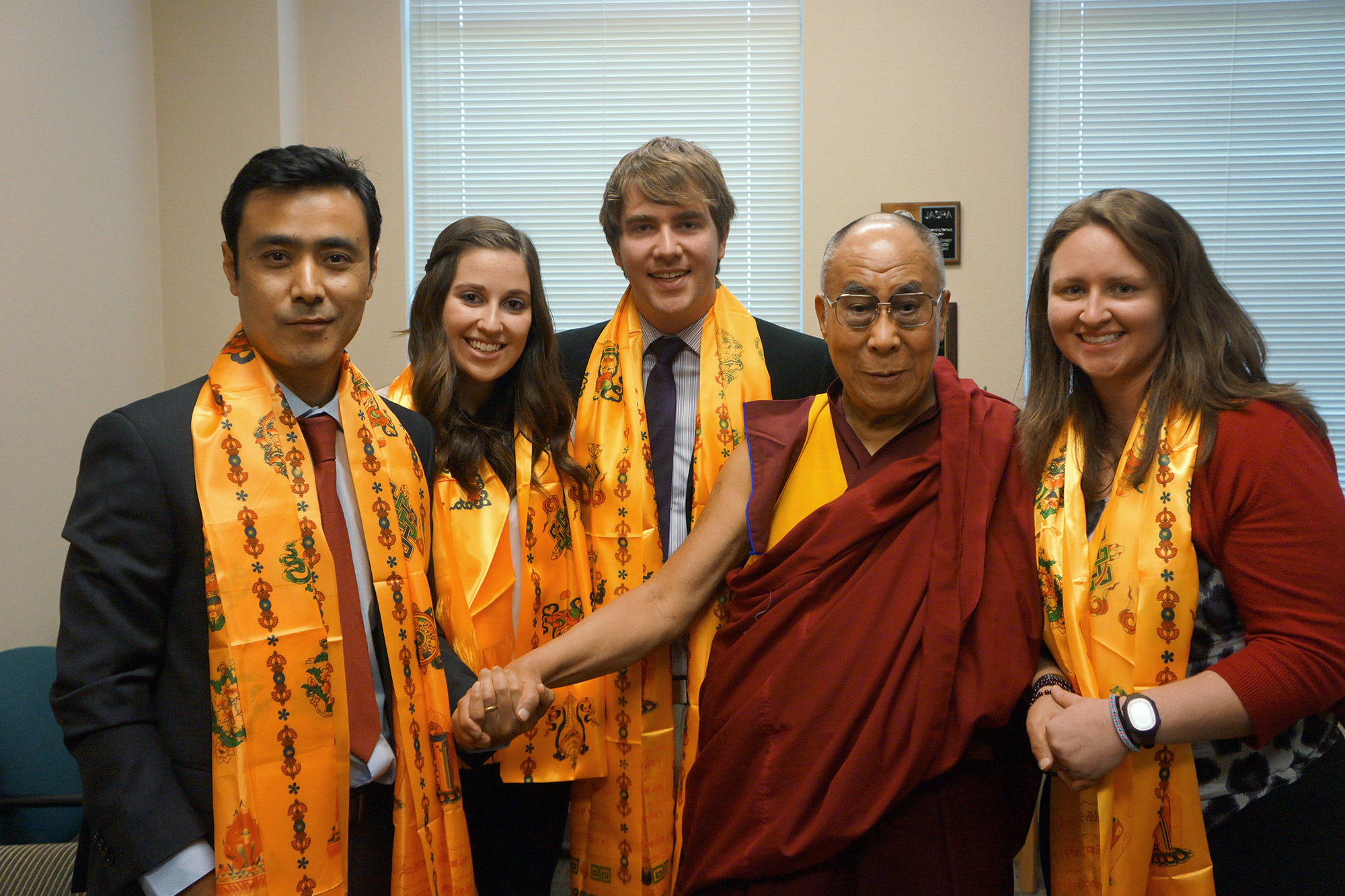 Photo: CU students meet Dalai Lama