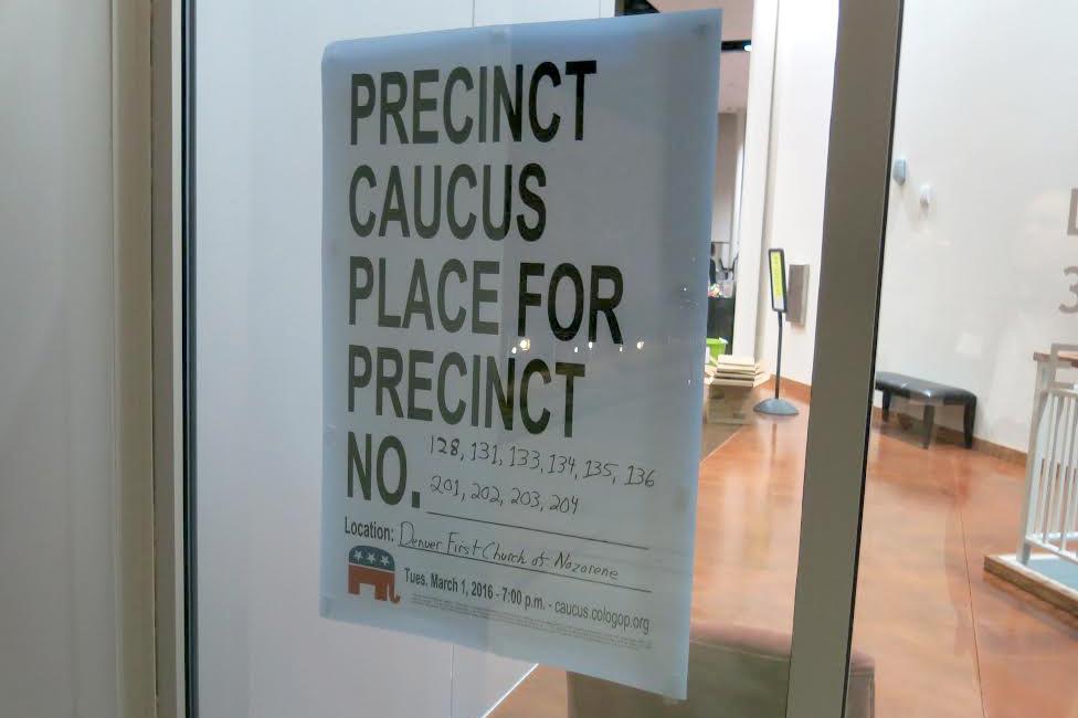 Photo: Colorado Caucus, Sign (JD)