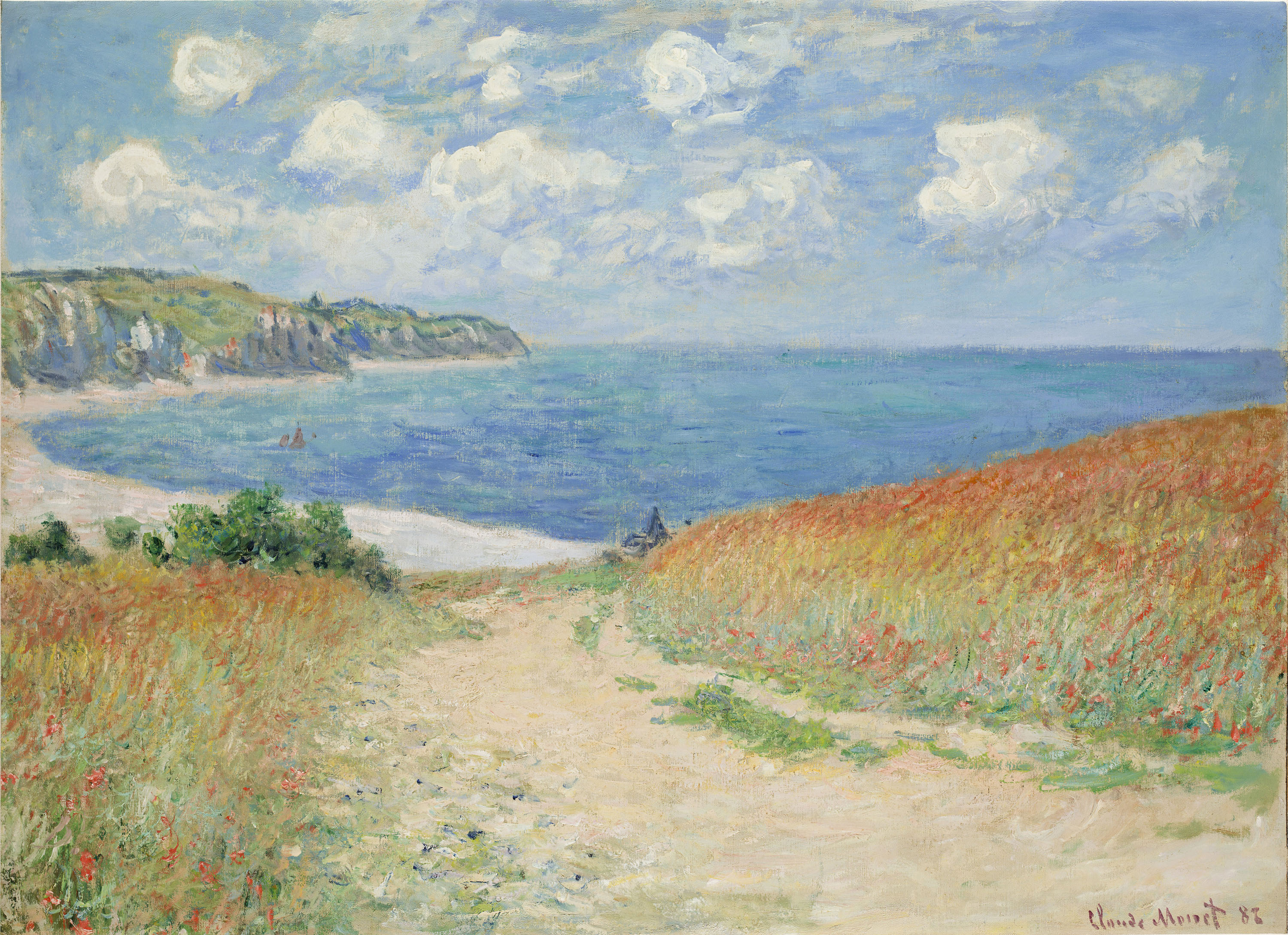 Claude Monet's Path in the Wheat Fields at Pourville, 1882.