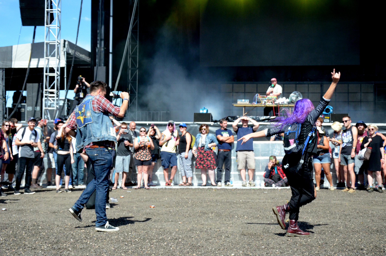 Photo: Dan Deacon crowd at Riot Fest 2016