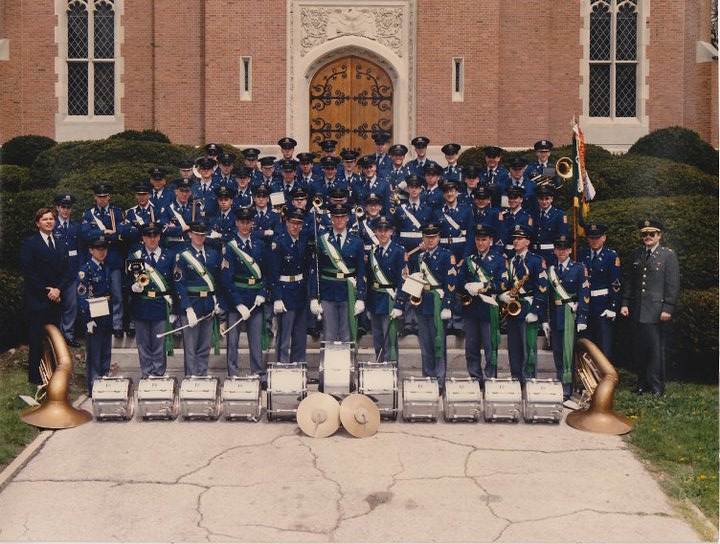 photo: David Fender with high school band