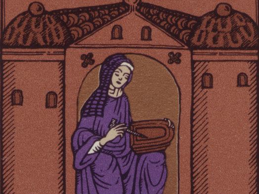 Photo: Hildegard von Bingen stamp