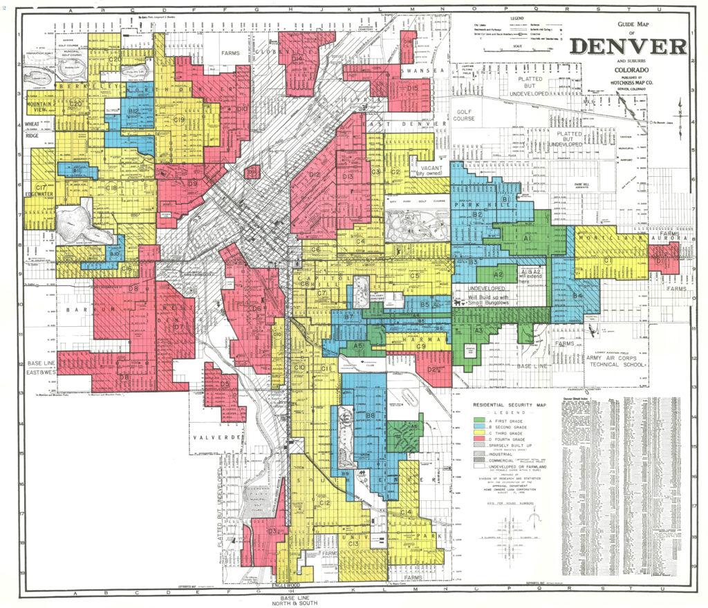 Denver Neighborhood Map on