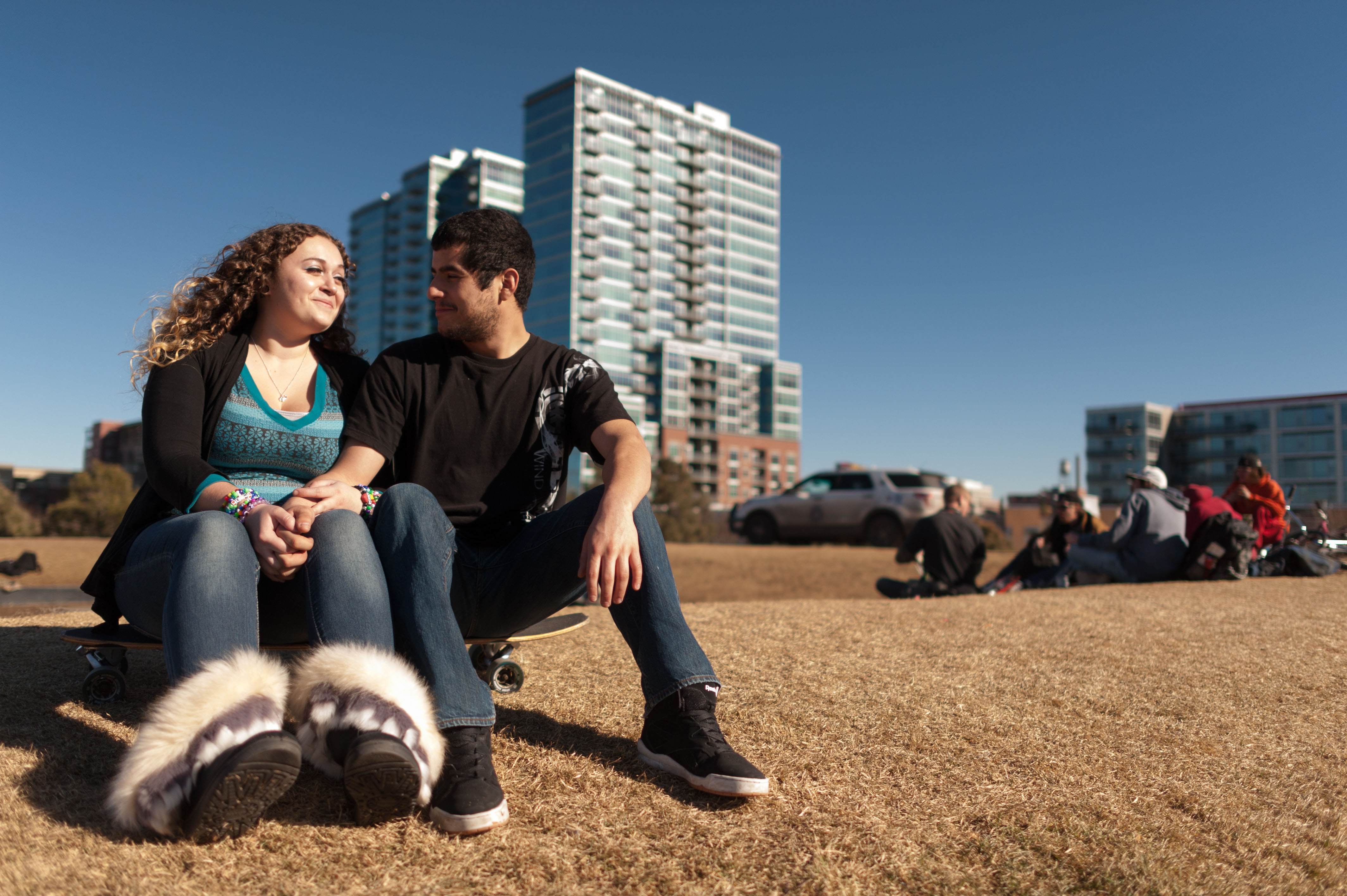 Photo: Destiny Carney and Adrian Pasillas in Commons Park