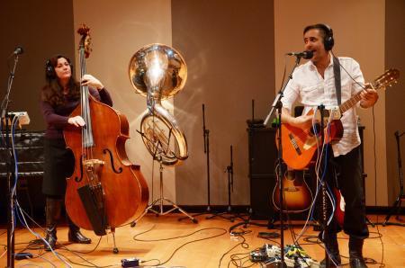 Devotchka visits OpenAir with members of Colorado Symphony