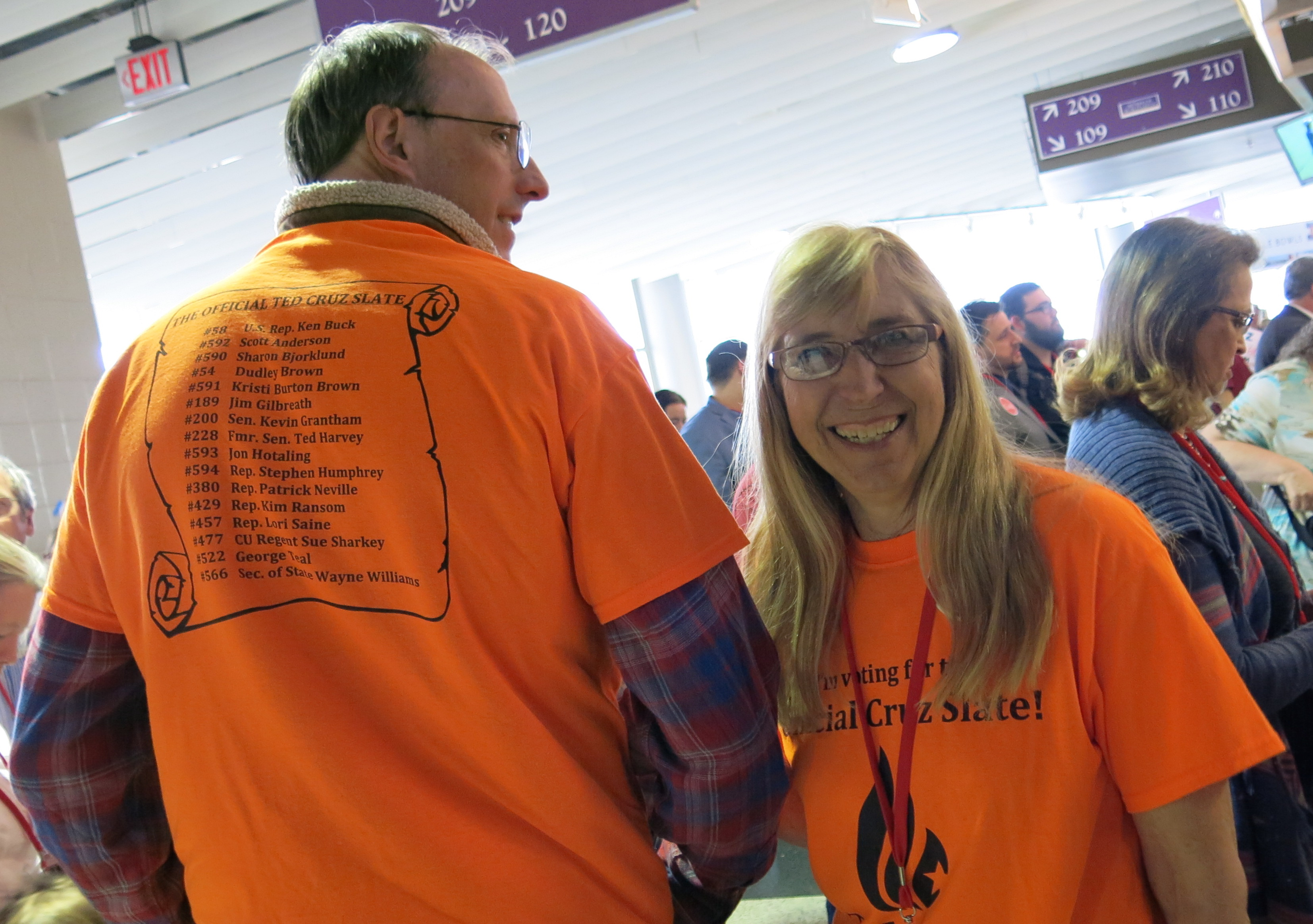 Photo: Cruz Supporters In Orange T-Shirts, CO GOP Convention