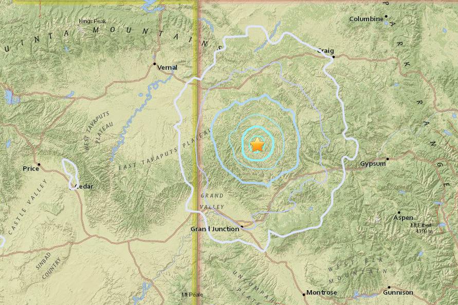 Photo: Map Of 08242018 Earthquake | NWS