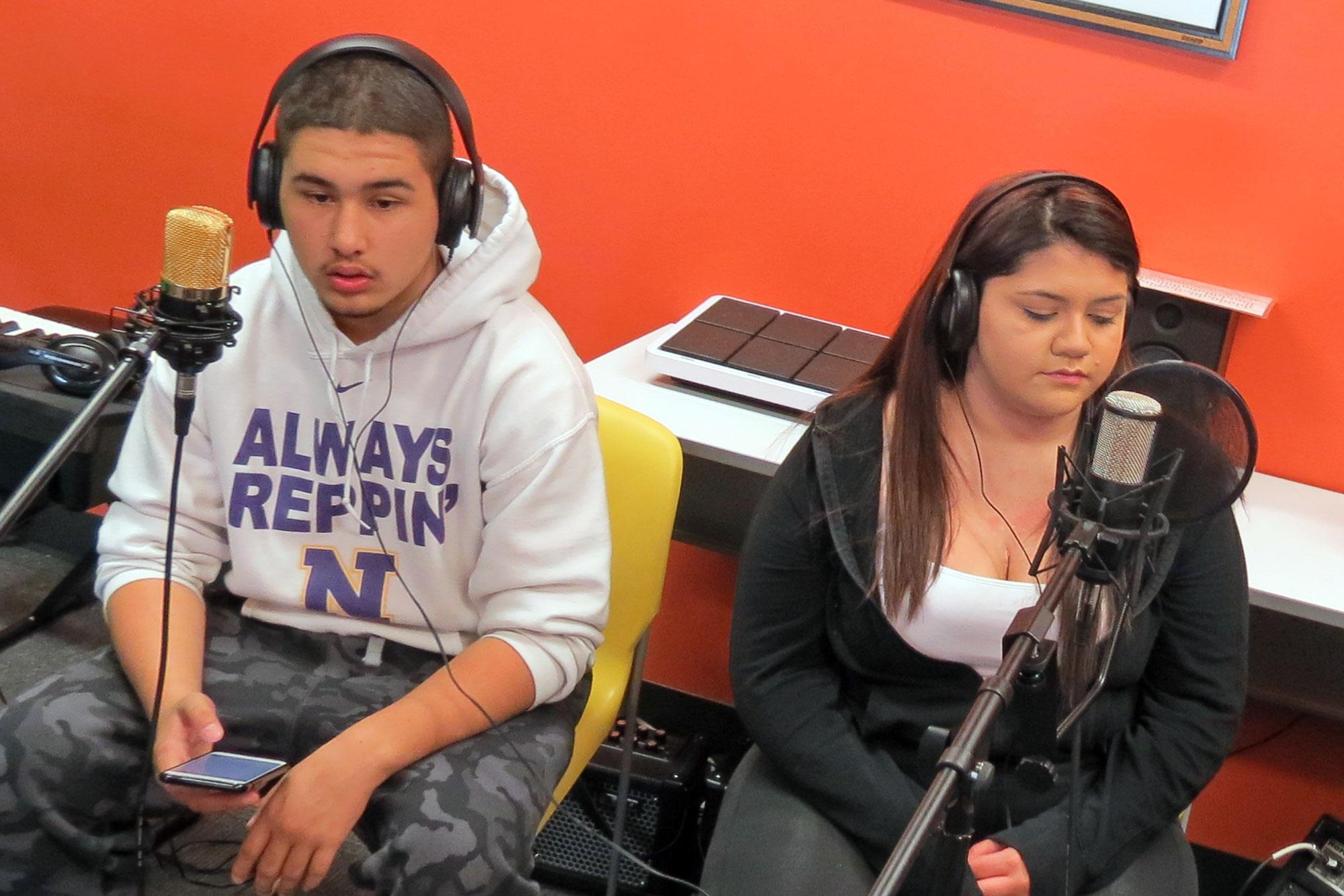 Photo: Globeville Student Podcast 1 | Recording At DPL - JBrundin