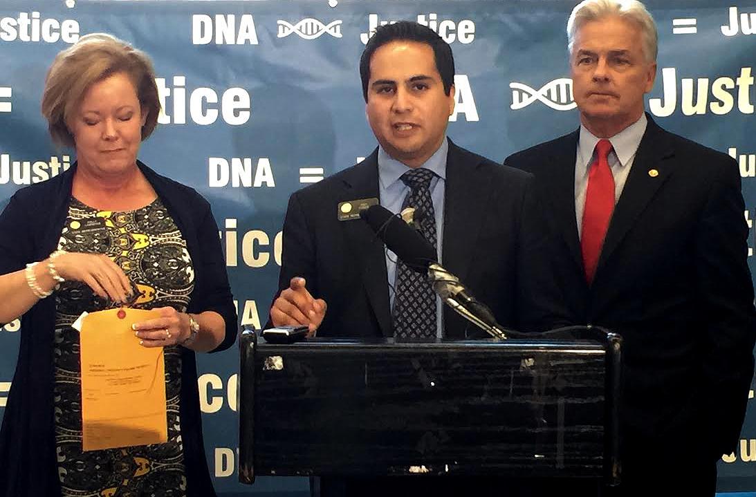 Photo: DNA testing bill, Lawrence, Pabon, Morrissey