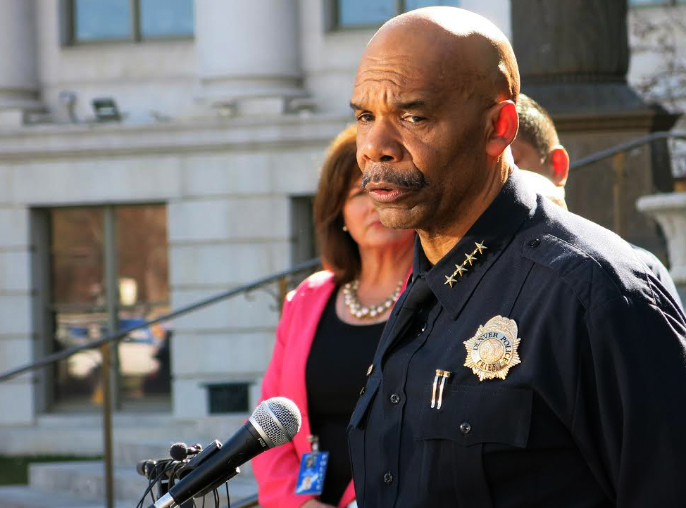 Photo: Denver Police Chief Robert White, news conference, 4 homicides