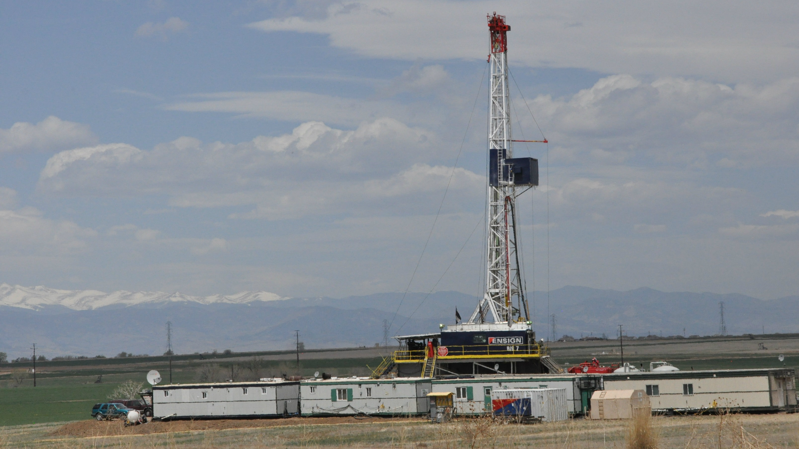 Photo: drill rig weld county natural gas