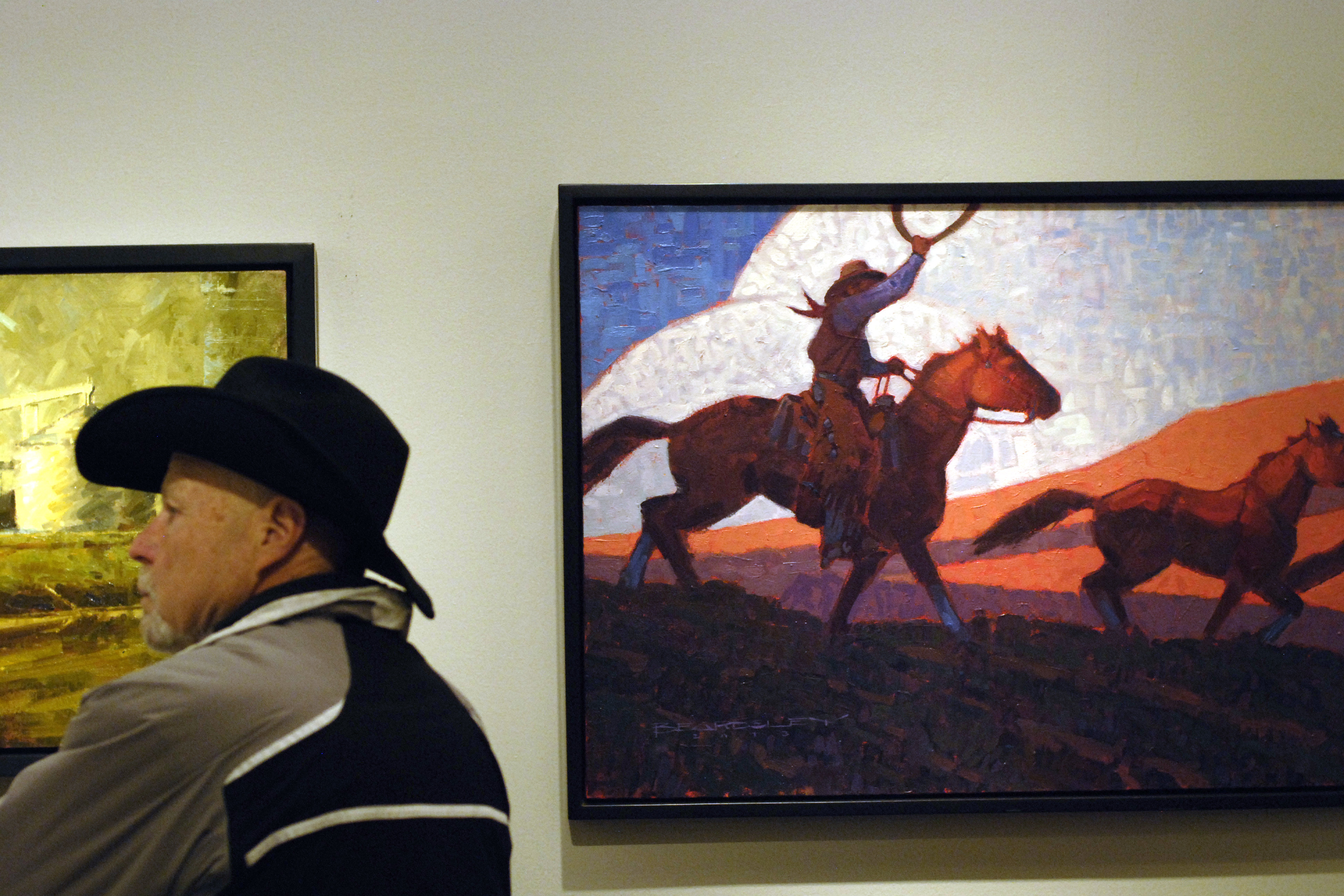 PHOTO: Cowboy art at the National Western Stock Show 2014