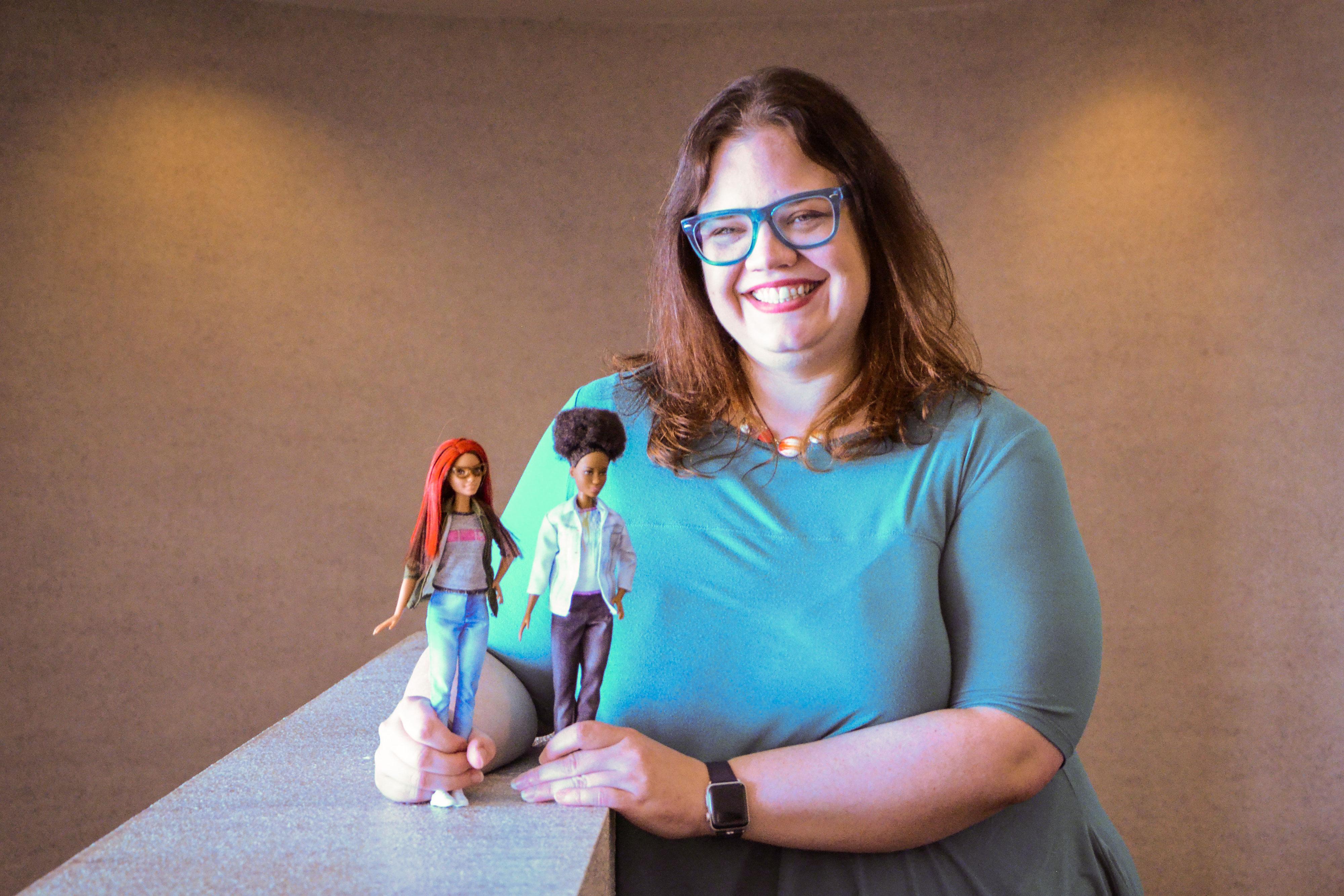 Photo: Casey Fiesler STEM Barbies
