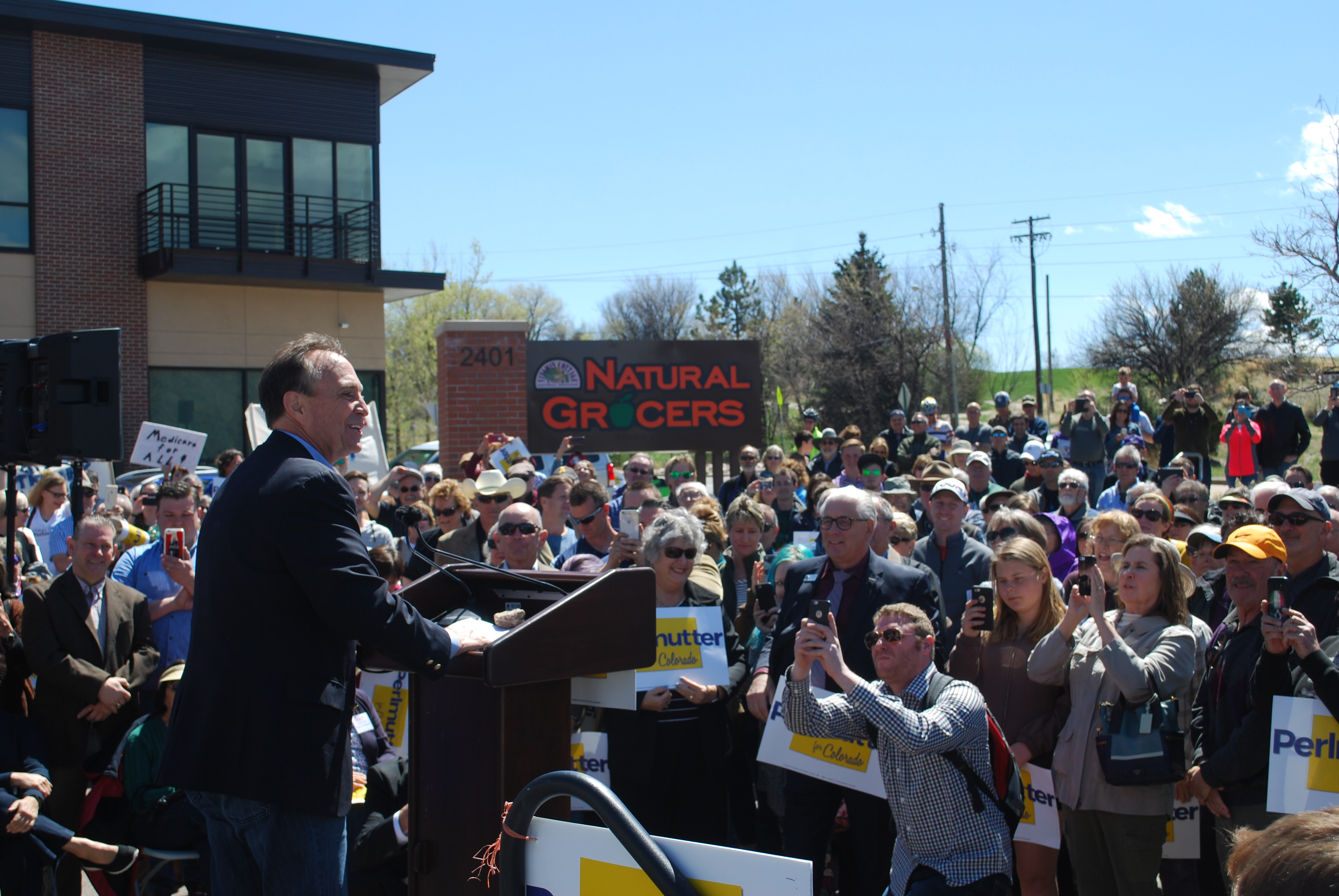 Photo: Rep. Ed Perlmutter announces gubernatorial bid (Staff)