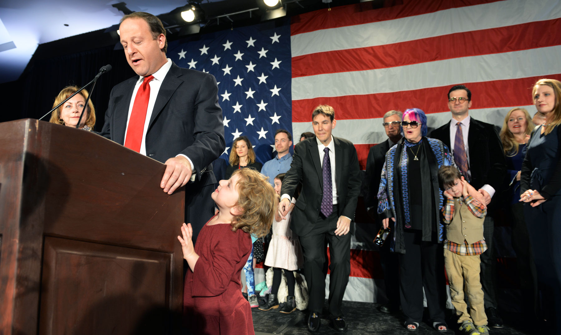 Photo: Election Night 2018 9 | Democratic Party Jared Polis Kids MT