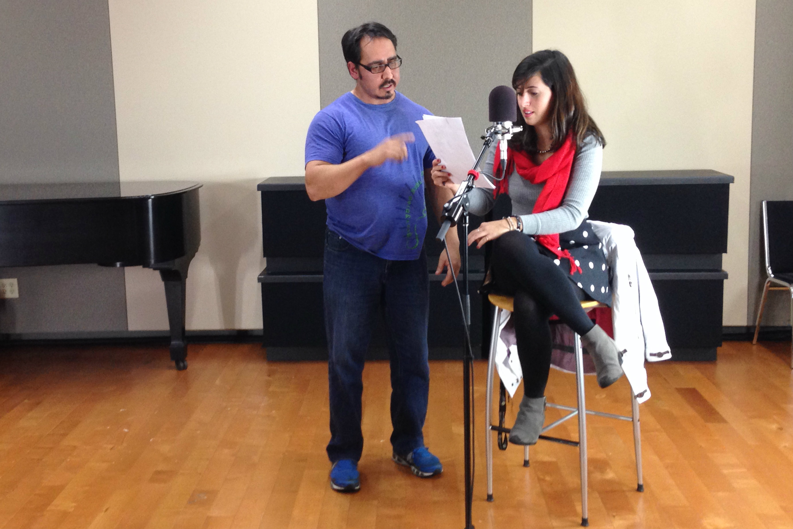 PHOTO: Jose Antonio Mercado directs Ana Dorta