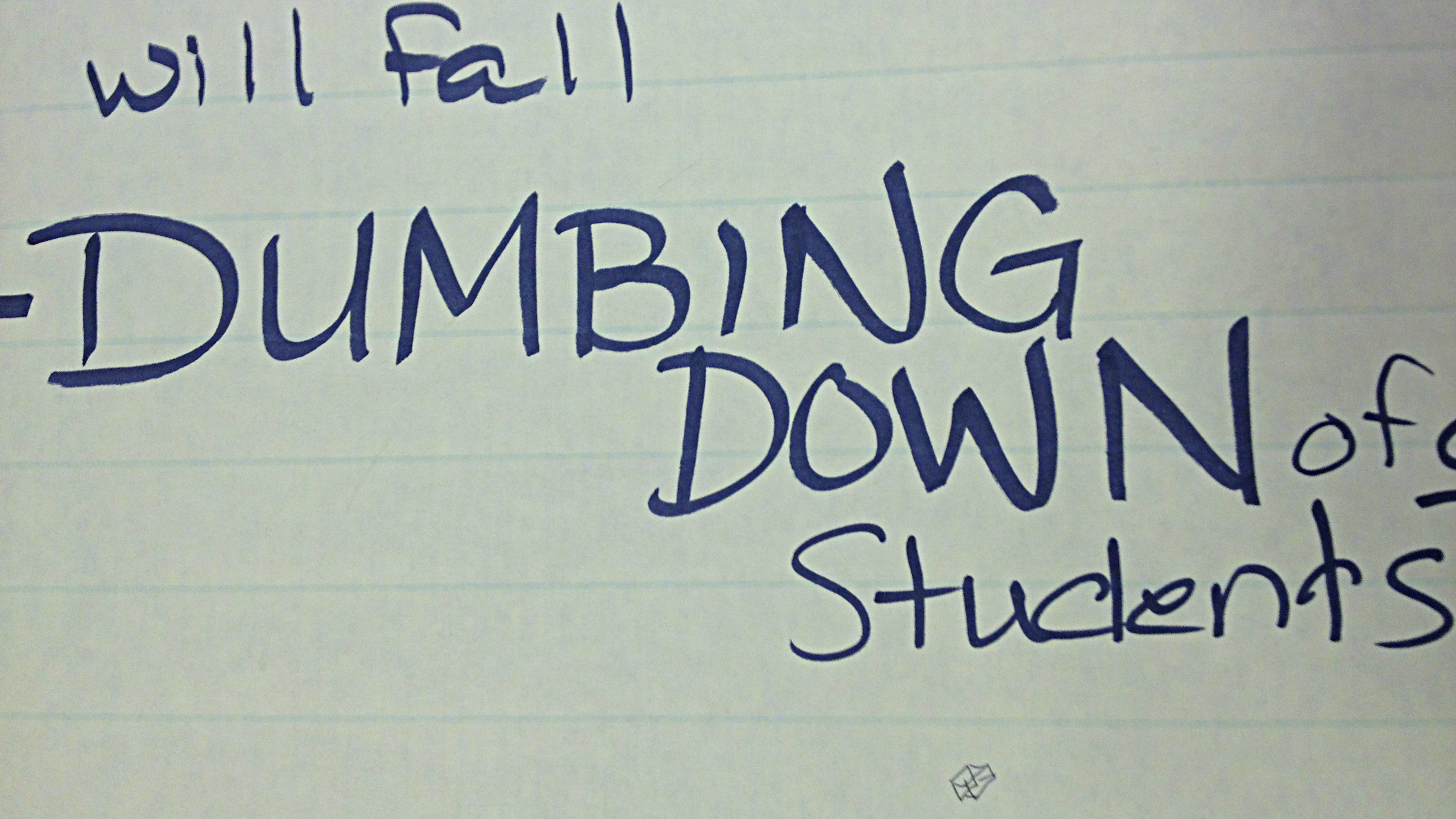 Photo: GW 1 - dumbing down