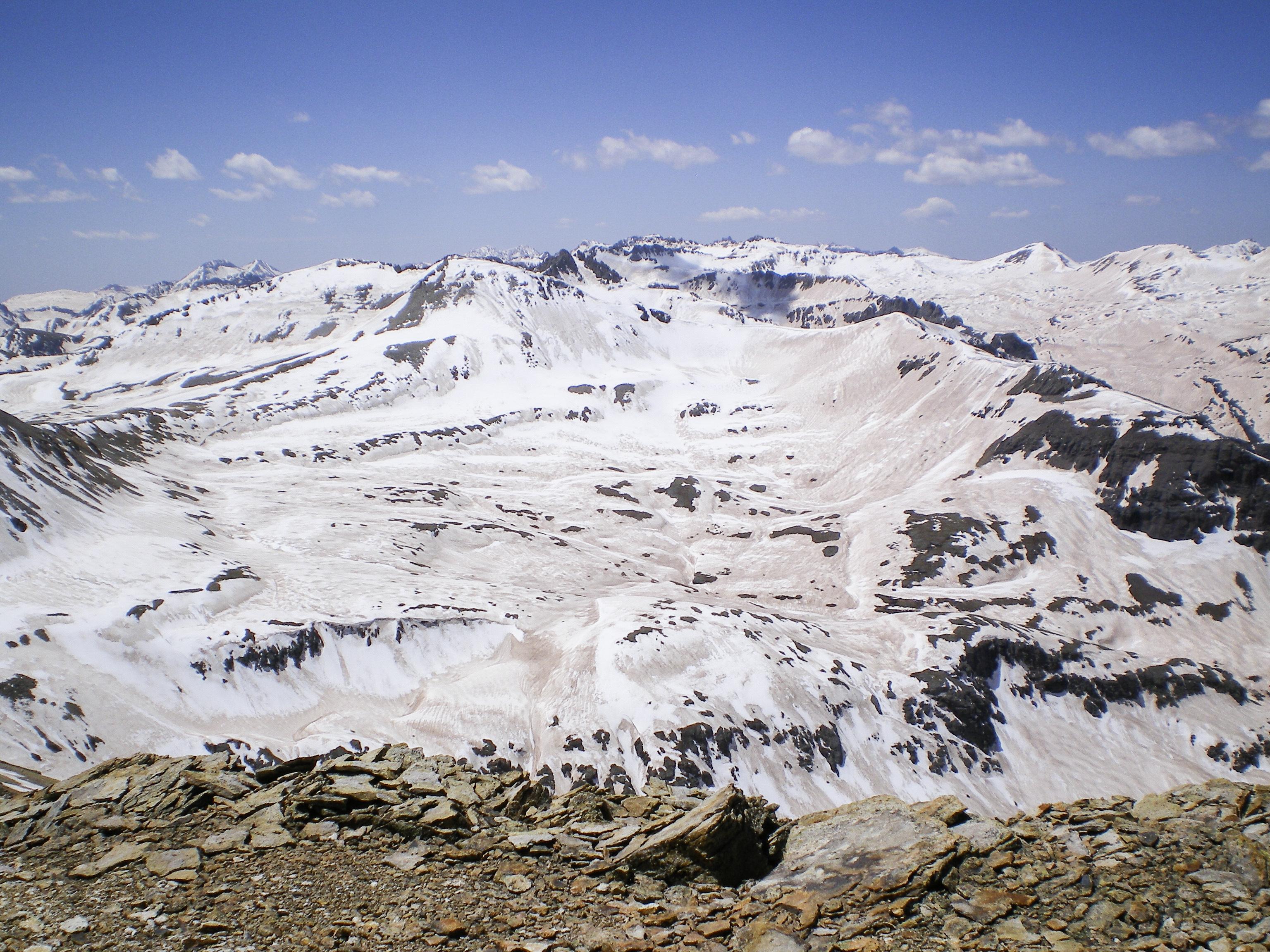 Photo: Dust on Rocky Mountain snowpack