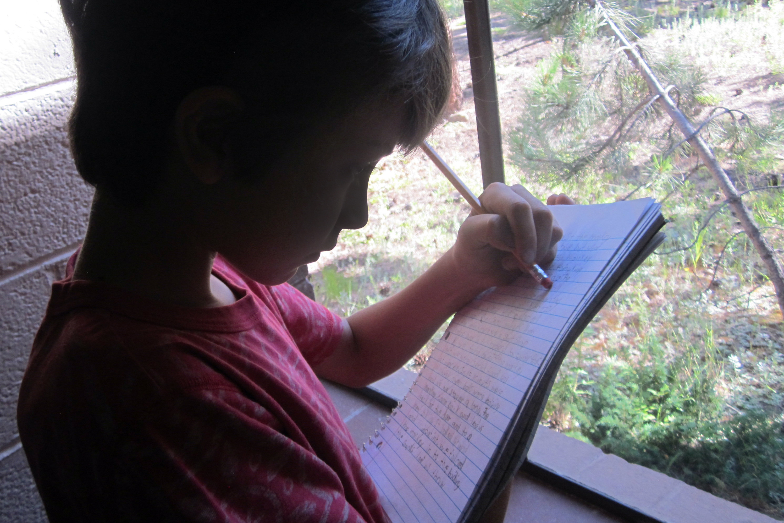 Photo: Dyslexia Camp, Student With Notebook