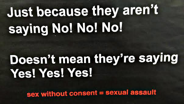 Photo: sexual assault poster