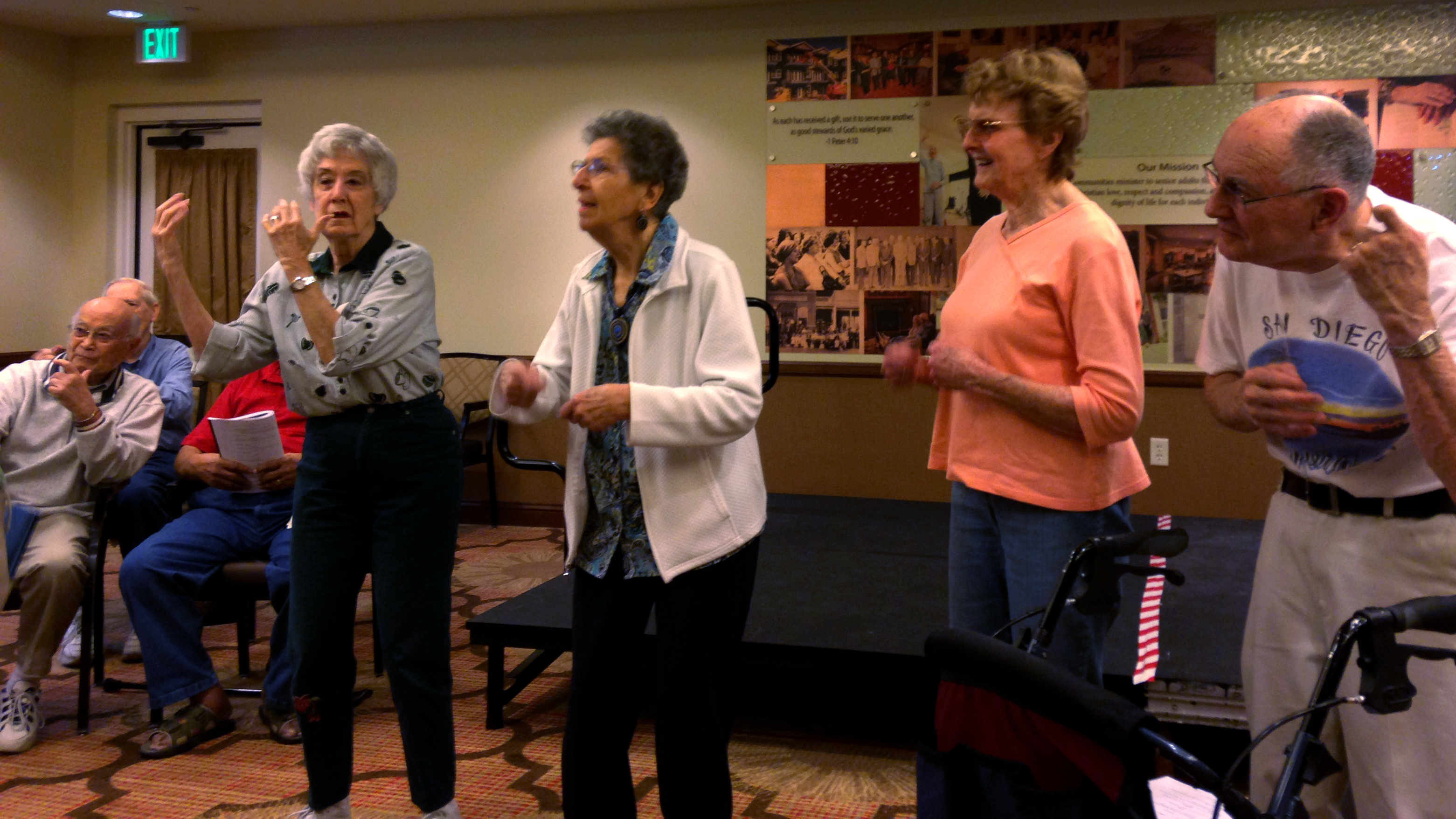 "Photo: Seniors sing the ""Music Man"" in Denver retirement home"