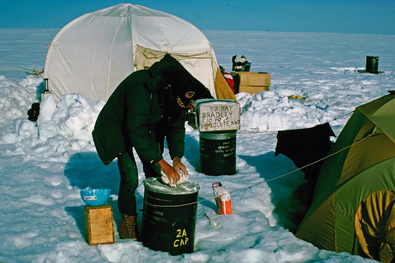 Photo: Mark Serreze in Ellesmere Island, Arctic 1982