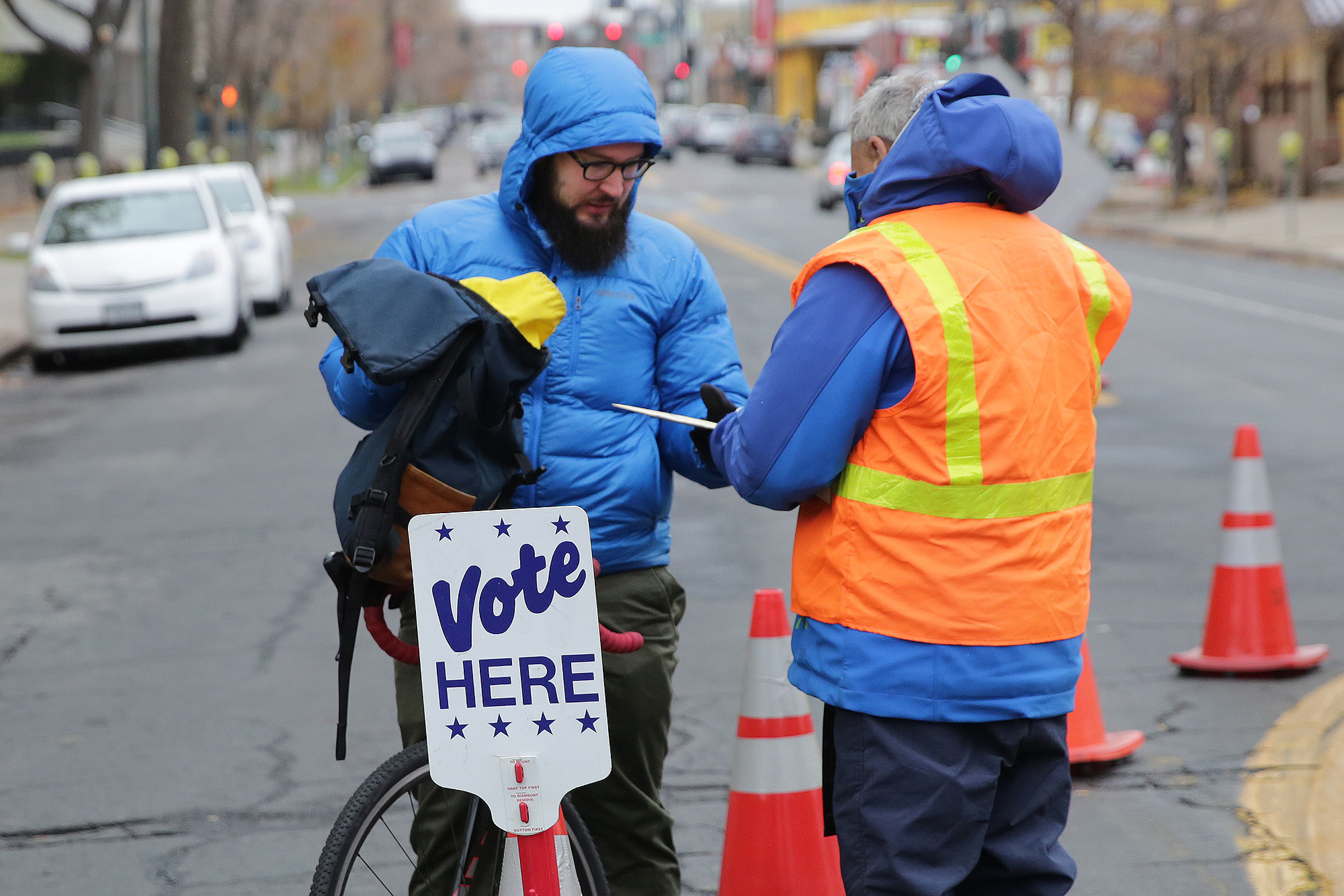 Photo: Election Day 2017 Downtown Denver Volunteer Bicycle