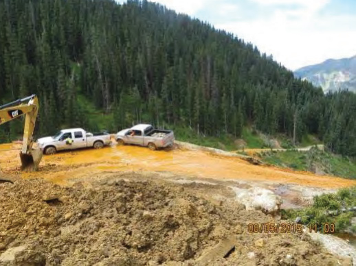 Photo: Gold King spill Aug 5 from EPA report