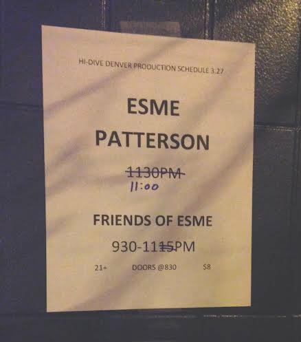 photo: Esme release show